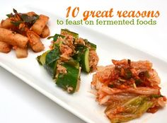 We've been eating fermented foods for some 5,000 years or so. Because they taste good and, as our ancestors knew, they're good for us! Here's why...   http://tasteforlife.com/eating-well/functional-foods/10-great-reasons-feast-fermented-foods
