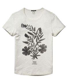 Flower Print T-Shirt  - Scotch & Soda