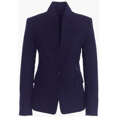 J.Crew Petite Regent Blazer ($260) ❤ liked on Polyvore featuring outerwear, jackets, blazers, petite, tailored blazer, fitted jacket, j crew blazer, j crew jacket and petite jackets