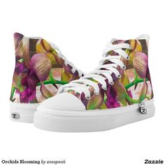 Orchids Blooming, Printed Shoes from ZoeSPEAK