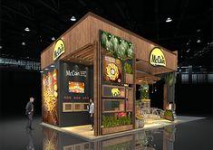 PROJETO MC CAIN on Behance Exhibition Stall Design, Exhibition Booth, Exhibition Stands, Stand Design, Architecture, Behance, Alaska, Tile, Coffee