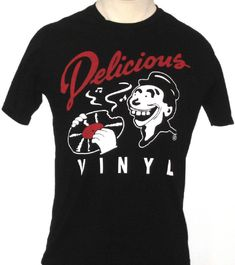 c7f89b8fa Delicious Vinyl Record Label T-shirt - Original Logo Mens Black Shirt,  Random Online