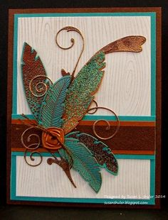 Behind the Scenes - Straits Stamping Studio: Verdigris, Copper, Feathers and Flourish
