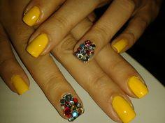 Yellow #nailswag #nailsart #nails #colors #polish #beauty #nail