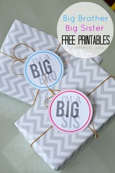 Big/little sibling gift tags