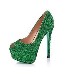 Chloe Green green shoes
