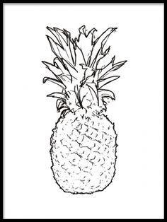Poster med trendig ananas.