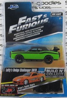FAST AND FURIOUS Build N Collect LETTY'S DODGE CHALLENGER SRT8 1:64 Diecast JADA #JadaToys #Dodge