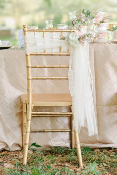 romantic chair detail   Ever After Barn   Emilee's Events   Wish Vintage Rentals   Taylormade Wedding and Event Flowers   Catherine Ann Photography   Glamour & Grace