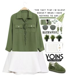 """Yoins 8/10 ♥"" by av-anul ❤ liked on Polyvore featuring NOVICA and Ray-Ban"