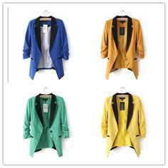 Fashion Womens Jackets Cotton Blazers OL Style by wholesaledress, $30.99
