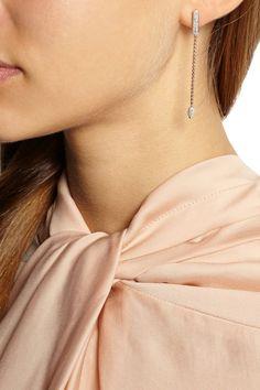Monica Vinader|Fiji rose gold-plated diamond earrings|NET-A-PORTER.COM