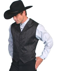 Rangewear is a part of the Old West Collection by Scully. Fully lined. Sizes: Rangewear by Scully makes authentic Old West clothing! Fancy floral stripe design throughout. Cowboy Wedding Attire, Country Wedding Attire, Wedding Vest, Patio Wedding, Wedding Outfits, Wedding Groom, Wedding Dresses, Mens Western Vest, Western Wear