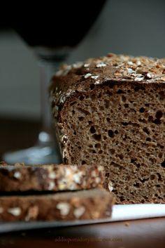 Wholemeal Bread with Dark Beer in the Maple Syrup // Chleb razowy na ciemnym piwie w syropem klonowym Bread Bun, Bread Rolls, Dark Beer, Our Daily Bread, Sourdough Bread, Maple Syrup, Banana Bread, Healthy Recipes, Healthy Food