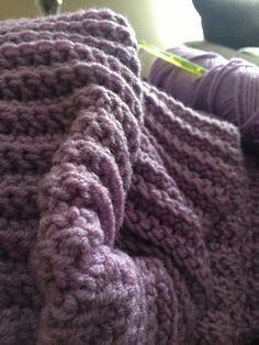Comfy blanket I am crocheting!