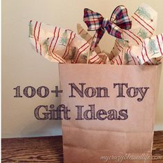 Non Toy Gift Ideas for Kids at Christmas! NO candy in this list either!!!
