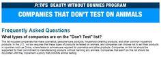 marki - nie testowane na zwierzętach