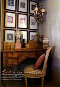 It would be fun to write letters on this desk inside a French chateau