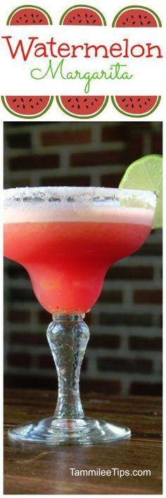 Easy Frozen Fresh Watermelon Margarita Recipe perfect for summer! Whip up a big batch and serve at your next party.