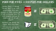 Food for Fines and Diapers for Dollars (Spring 2016)