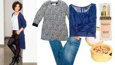 Hanne drømmer om at være smartere og vil gerne kunne variere stilen i stedet for altid at gå i jeans. Investér i 3 gode ting, råder FEMINAs stylist: En behagelig cardigan, cool skindleggings og et par seje støvletter - så kan hun nøjes med at skifte top efter begivenhed