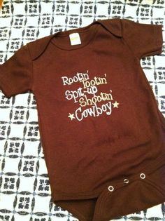 if we ever have a little boy, all his stuff will be done in a country theme! LOVE!