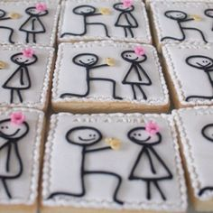 Great idea for my engagement party!  Instead of cake i would use sugar cookies!
