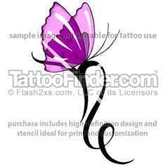 Capricorn Glass Butterfly tattoo design by Terri Fox. Thinking of getting!! With my son and/or daughters name