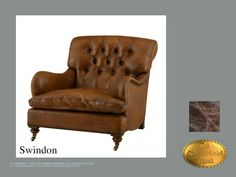 Chesterfield Fauteuil</br>Swindon Old Look Bruin