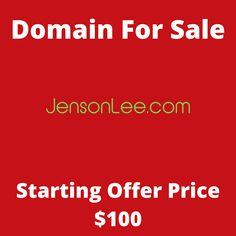 JensonLee.com domain name for sale! Visit it now to purchase it!  #jensonlee #jenson #lee #name #domainforsale #domainname #domains #domainsale #domainnameforsale #website Web Domain, Laptops For Sale, Names, Website, Cannabis, Cut, Flipping, Locker, Friendship