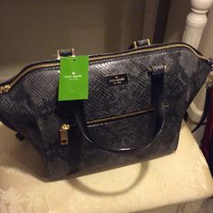 Kate Spade Bag Kate Spade Parliament Square Savannah Satchel. Snake Skin Leather. Dust bag included. Authentic NWT. kate spade Bags Satchels