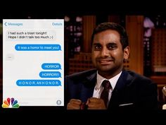 Aziz Ansari And Jimmy Fallon Re-Enact WTF First Texts
