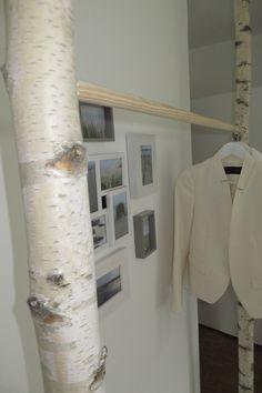 Garderoben - Kleiderschrank/Kleiderstange aus Birke - ein Designerstück von baba101986 bei DaWanda