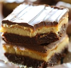 Fudgy brownies topped with a shortbread cookie truffle, gooey caramel and melted chocolate- what could be better?!