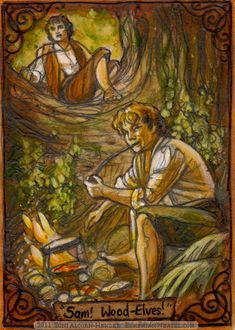 Frodo and Sam by Soni Alcorn-Hender (Bohemian Weasel) Hobbit Art, The Hobbit, Hobbit Hole, Gandalf, Legolas, Lotr Swords, Avatar, Concerning Hobbits, Wood Elf