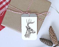 Christmas Gift Tags Christmas Tags Deer by TheSecretZebraVA
