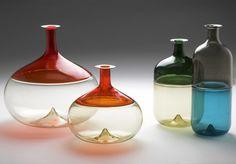 design-is-fine: Tapio Wirkkala, prototypes for Bolle series, For Venini, Murano, Venice. Venetian Glass, Murano Glass, Art Design, Glass Design, Ketchup Bottles, Vodka Bottle, Perfume, Vintage Vases, Glass Ceramic