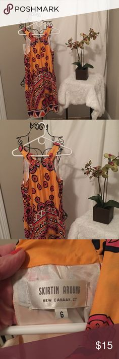 Sun dress Sun dress.  Hardly worn and perfect for summertime.  Perfect with cardigan and flats. EUC.  Smoke free pet free home. Bought at local high end boutique. Skirtin Around Dresses Mini