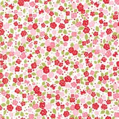 Michael Miller Fabric  Tea Blooms in Pink 1 by ThreeDollsFabrics, $8.20