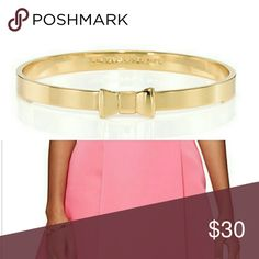 ❗PRICE DROP❗NWT Kate Spade Bangle (Gold) NWT Kate Spade Take a Bow Bangle (Gold)   Will come with dust bag.   Price is firm. kate spade Jewelry Bracelets