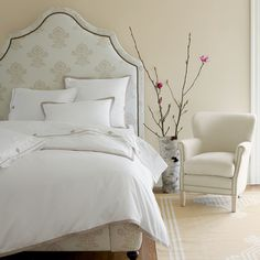 Custom Upholstered Pondicherry Bed with Nailheads in Designer Fabrics