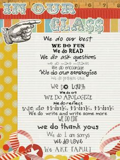 I love this! A positive spin on rules. This could be used as a social contract.