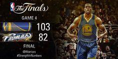 Big night for Golden State! Series even at 2-2! #NBAFinals  #WarriorsvsCavs