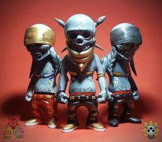 """3 travelers (lifepresent & death)"" custom Rebel Ink figures from Ink Visuals!!!"