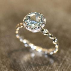Vintage style engagement ring idea. via LaMore Design