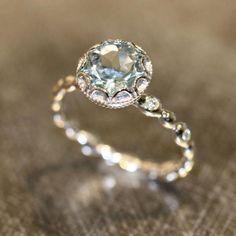 Vintage style engagement ring idea. via LaMore Design