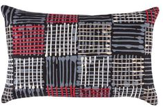 Cushion cover kas size 35cm x 55cm tariq red cotton new  bobin boutique A