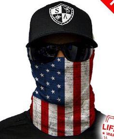 American Flag Multi Purpose Face Shield Balaclava Bandana Neck Gaiter Buff Sun Mask Neckerchief by VaderUnlimited on Etsy