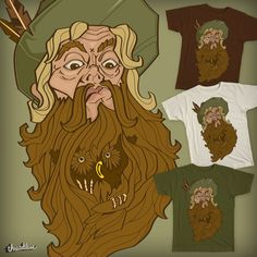 Owl in the beard on Threadless