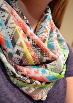 Sea Glass and Ribbons: 0 degree DIY {Infinity Scarf}